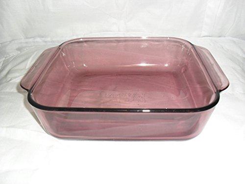 Vintage Pyrex Cranberry 8x8 Bakeware Pan 222-R 2 Quart