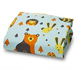 Fox and Owl Luxury Fitted Microfiber Crib Sheet for Standard 52 Inch Mattress