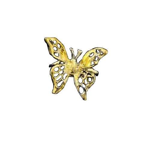 Left Only Gold Vermeil Pierceless 3D Open Butterfly Ear Cuff