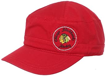 NHL Chicago Blackhawks Women's Military Hat, One Size