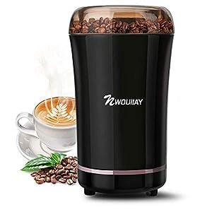 NWOUIIAY 電動コーヒーミル グラインダー 300Wハイパワー