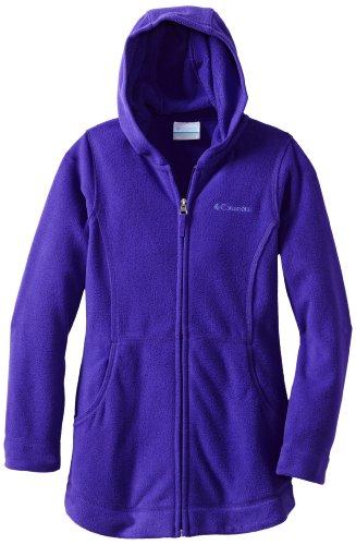 Columbia Big Girls' Explorers Delight Long Fleece Coat, Hyper Purple, Large front-1011186
