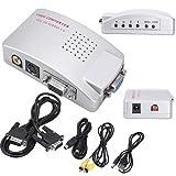 WINGONEER PC VGA zu TV Composite Video RGB Konverter mit SCART-Adapter und Cinch Kabel