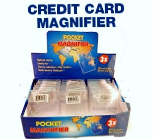 Wholesale Lot of 10 Credit Card Sized Wallet Magnifiers 3X Lenses