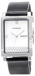 Titan Classique Analog White Dial Mens Watch - NE1508SL01