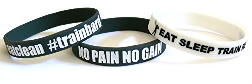 Fitness & Bodybuilding 3x Sportwristbands No Pain No Gain Training Workout Sports Gym CrossFit Equipment Accessories Silicone Rubber Bands Wristbands Bracelets Unisex New