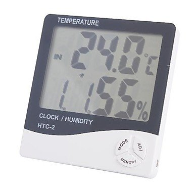 "Zcl4"" Lcd Indoor/Outdoor Digital Thermometer/Hygrometer (1*Aaa)"