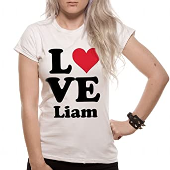 Official Licensed One Direction - Love Liam Women's T-Shirt White Small