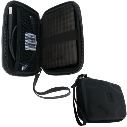 iGadgitz Black EVA Hard Case Cover Suitable for Samsung M3 500GB, 1TB USB 3.0 Slimline 2.5