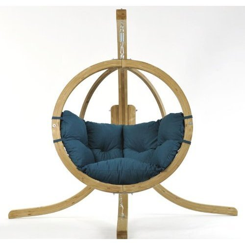 Globo Chair green - Luxuriöse Holzhängekugel Hängesessel von Amazonas