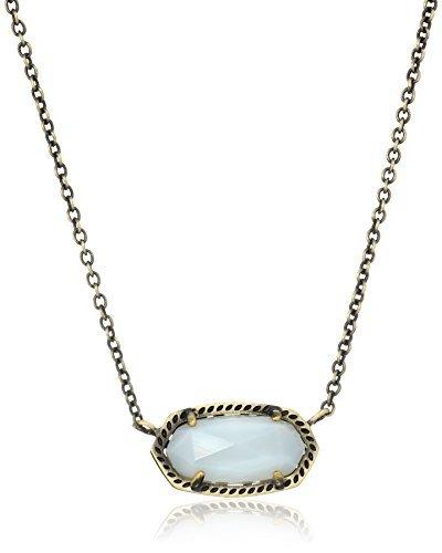 kendra-scott-elisa-antique-brass-white-banded-agate-pendant-necklace-14-2-extender-by-kendra-scott