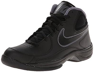 Nike Men's NIKE THE OVERPLAY VII BASKETBALL SHOES 8 (BLACK/BLACK/DARK GREY)