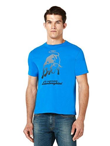Automobili Lamborghini T-shirt Big Bull Uomo Azzurro L