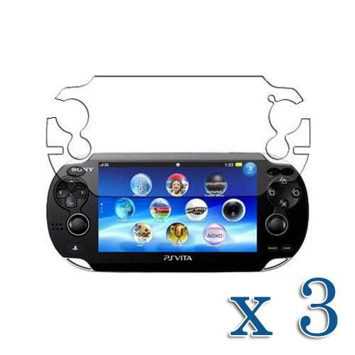 3 Pack Clear Screen Protector For Sony Psv Ps Vita Console