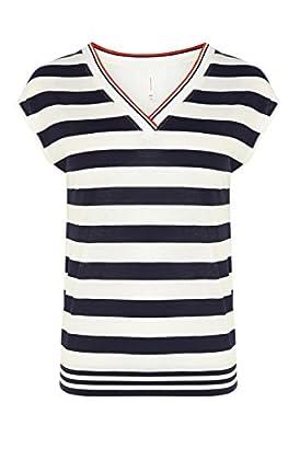 Striped v neck vest