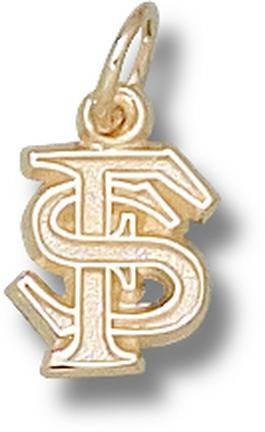 Florida State Seminoles Interlocked FS 3 8 Charm - 14KT Gold Jewelry by Logo Art