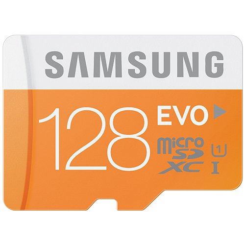 Samsung 128 GB MicroSD XC Evo Class 10 UHS 1up to 48MB s with Adapter MB MP128D by Samsung available at Amazon for Rs.8205