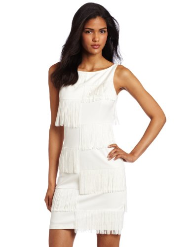 Trina Turk Womens Shimmy Dress, Ivory, 2