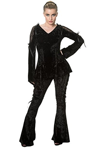 Banned -  Maglia a manica lunga  - Donna Black Large