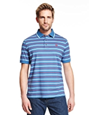 Blue Harbour Slim Fit Pure Cotton Twin Striped Polo Shirt