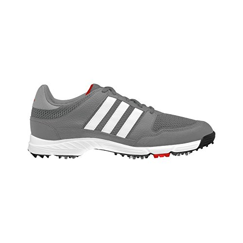adidas Men's Tech Response 4.0WD Golf Cleated, Iron Metallic/FTWR White/Core Black, 11 W US