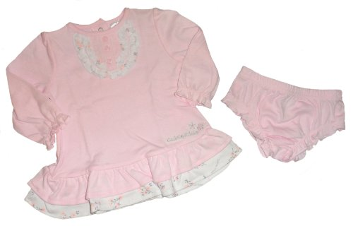 Calvin Klein Baby Girl's Dress & Diaper Cover Set - 1