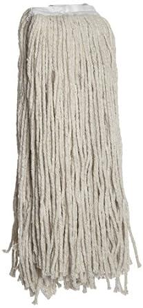 Boardwalk CM20032 Mop Head, Cotton, Cut-End, White, 4-Ply, 32 oz (Case of 12)