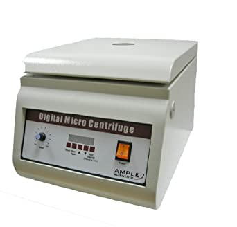 Ample Scientific DM-120 110V Bench-Top Centrifuge, 0-15min Digital Timer, 500-12000rpm Speed, Digital Micro Tube Rotor