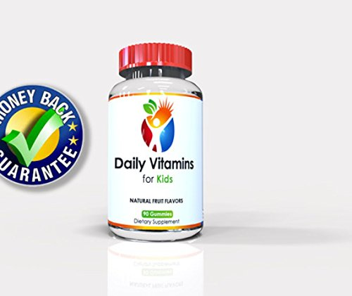 Daily Vitamins For Kids - Gluten Free No Artificial Colors - 90 Count Per Bottle - Childrens Multivitamin Gummies - Yummy Great Tasting Soft Chew - 100% Guarantee
