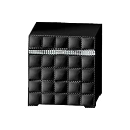 nu steel GB1H Giraffe Cotton Swab/Cotton Container, Black