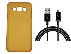 Toppings Hard Case Cover With Data Cable For Samsung Galaxy A3 - Golden