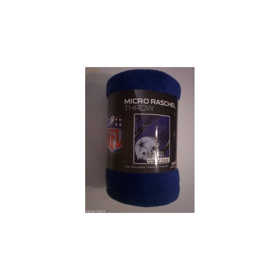 DALLAS COWBOYS NFL FOOTBALL FLEECE THROW BLANKET 50 X 60 NORTHWEST Micro Raschel Brand New Sealed
