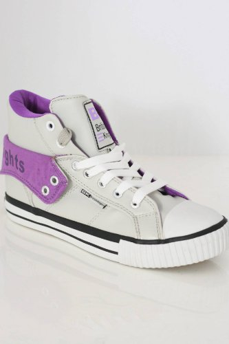 British Knights BK ROCO B32-3730, Herren Sneaker, Grau (ice/purple 15) (42)