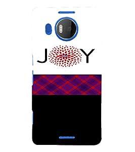 PrintVisa Joy Design 3D Hard Polycarbonate Designer Back Case Cover for Nokia Lumia 950 XL
