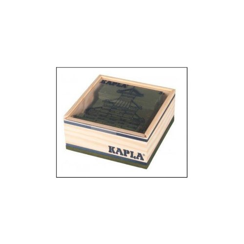 KAPLA 6509 Holzplättchen, 40 Steine, grün