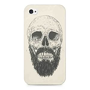 Flauntinstyle beard skull Hard Back Case Cover For Apple iPhone 4 4s