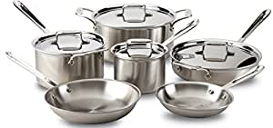All-Clad BD005710-R D5 Brushed Stainless Steel 5-Ply