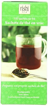 Rishi Tea Loose Leaf Paper Tea Filter Bags, 100-Count Box(Pack of 6)