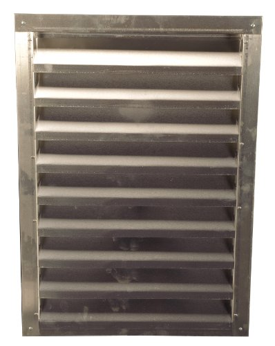 Lomanco 150-12x18 12-Inch X 18-Inch White Aluminum Gable Vents Mill Finished