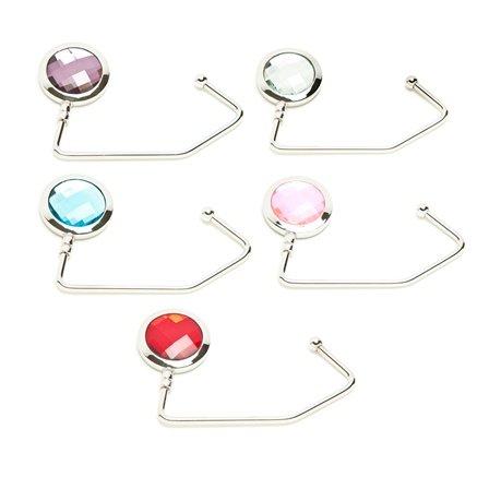 5 Crystal Purse Hooks / Handbag Hangers
