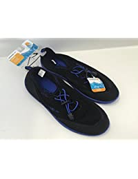 Speedo Water Shoes Kids Junior Size Small (13/1) Black/royal Blue