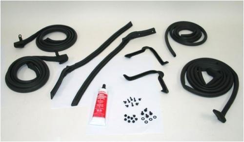 weather stripping 1964 67 corvette convertible body weatherstrip kit. Black Bedroom Furniture Sets. Home Design Ideas