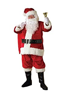 Rubie's Costume Deluxe Plush Regency Santa Suit, Red/White, X-Large