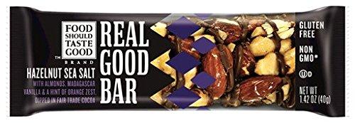 Food Should Taste Good, Real Good Bar, Gluten Free, Hazelnut Sea Salt, 15 Count (Sea Salt Real Food compare prices)