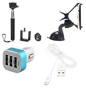 High Quality Selfie Stick , Mobile Holder , 5V/2.1 A Tripple (3) Jack USB Car...