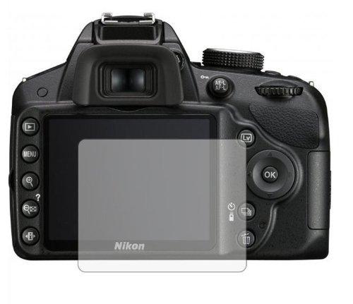 6 x Displayschutzfolie passgenau für Nikon D3200 - Anti-Kratzer Displayschutz unsichtbar Folie
