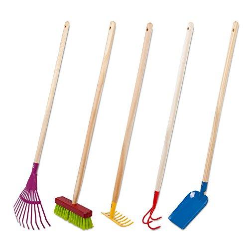 Cesto in vimini da giardino set di utensili a mano - Attrezzi da giardino per bambini ...