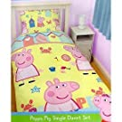 Childrens/Kids Peppa Pig Quilt/Duvet Cover Bedding Set