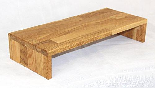 Tischaufsatz-aus-Massivholz-Eiche-gelt-Bildschirmerhher-TFT-Stnder-Tischablage-Monitorstnder