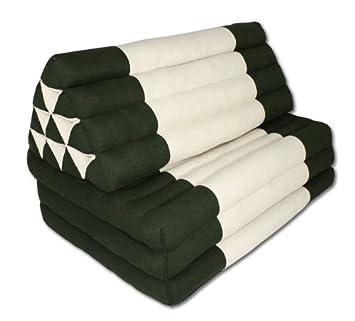 coussin thai royaume uni trois fois fois coussin thai fonce draps draps en coton vert et. Black Bedroom Furniture Sets. Home Design Ideas